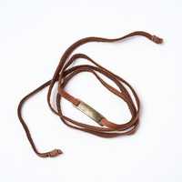 Rhodes Leather Wrap Bracelet