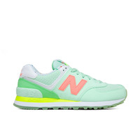 New Balance - W 574 State Fair - Seafoam with Summer Green & Cosmic Coral