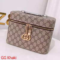 LV Louis vuitton GG Clamshell Cosmetic Case Bag with Full Letters Box