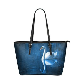 Tote Bags, Blue and Black White Dove Style Tote Bag