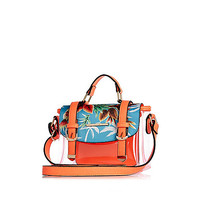 River Island Girls orange printed jelly satchel bag