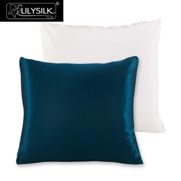 Lilysilk 100% Pure Mulberry Silk Pillowcase with Cotton Underside Pillow Cover Free Shipping 60x60cm 65x65cm 70X70cm 1 Pcs