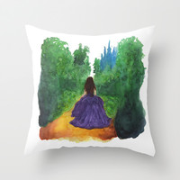 THE ENCHANTED FOREST  Throw Pillow by Lauren Lee Designs