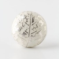 Feather Imprint Knob by Anthropologie in Silver Size: One Size Knobs