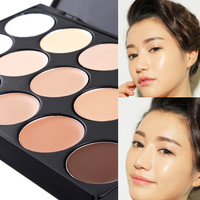 15 color Primer Base Concealer Contour Face Cream Makeup Palette Paleta De Facial Make Up Cream Camouflage