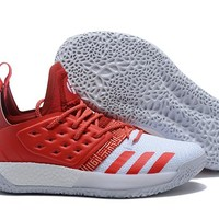 Adidas Harden Vol. 2 White/Red Basketball Shoes US7-11.5