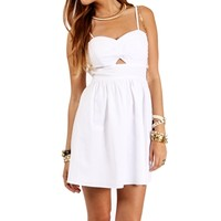 SALE-White Keyhole Sundress