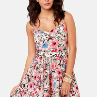 Lucca Couture Garden Groove Floral Print Dress