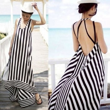 Sexy Women Summer Long Maxi Evening Party Dress Beach Dresses Chiffon Dress AP = 5657628353