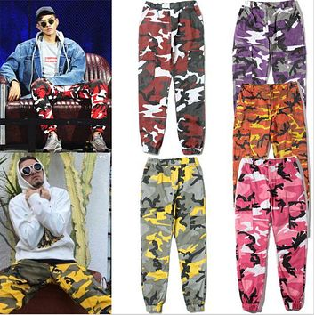 Tide brand camouflage military street dance pants F