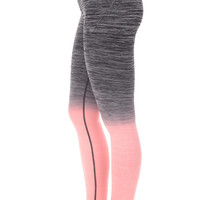 Peach and Grey Ombre Activewear Leggings