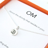 OM Charm Necklace Set