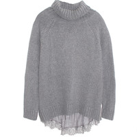 Clu Maille Grey Sweater with Silky Godet | Les Pommettes
