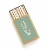 Rosemary Botanical Matchbox - Herb Print Matches - Summer Garden Party Decor - Hostess Gift - Wedding Matchbook Favor - Light a Summer Spark