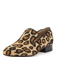 Sam Edelman Kalinda Leopard-Print Calf Hair Loafer