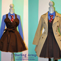Doctor Who Tenth 10th Doctor David Tennant Suiting Cosplay Jumper Pinafore Dress-Accessory