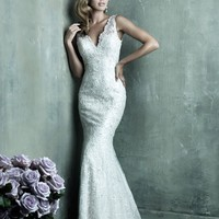 Allure Couture C291 Beaded Lace Wedding Dress