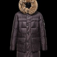 Moncler Men Wool Down Quilted Coat