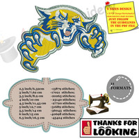 Wildcats Machine Embroidery Design,Sport embroidery,Football college team,filled stitch,machine patterns, 9 SIZES,INSTANT DOWNLOAD