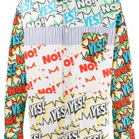 "Comic Book ""Yes!"" & ""No!"" Dress Shirt by Comme Des Garçons"