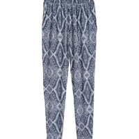 Patterned Jersey Pants - from H&M