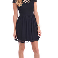 Dress To Impress Cut Out Fit And Flare Dress