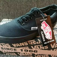 """VANS"" Unisex Casual Low Help Shoes Canvas Shoes Couple Classic Cloth shoes"