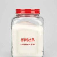 Labeled Sugar Canister- Clear One