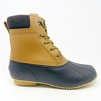 American Eagle Outfitters Brown Black Mens Leather Duck Boots