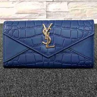 YSL Women Fashion Leather Buckle Wallet Purse-21