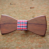 FREE SHIPPING till 15th October! Handcrafted Wooden Bow tie . Rosewood . Handicraft unique men accessory. Manly gift.