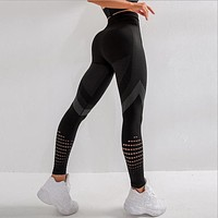 Mesh Breathable Push Up Leggings