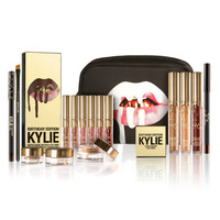 Lip kit Birthday Matte lipstick Mini Kit 6 Pcs/Set Metal Gold Cosmetics Lipstick Set