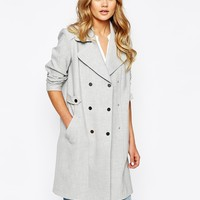 River Island Bonded Trench Coat