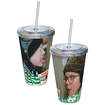 A Christmas Story - Triple Dog Dare You Acrylic Tumbler With Straw