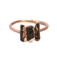 Black Tourmaline Shard Ring