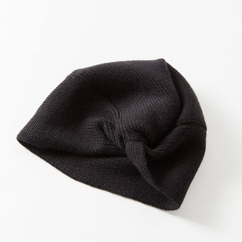 Knot-Front Knit Beanie | Urban Outfitters