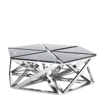 Marble Top Silver Coffee Table Set | Eichholtz Galaxy