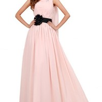 Sunvary Morden One Shoulder Chiffon Evening Party Dresses Prom Gowns Long