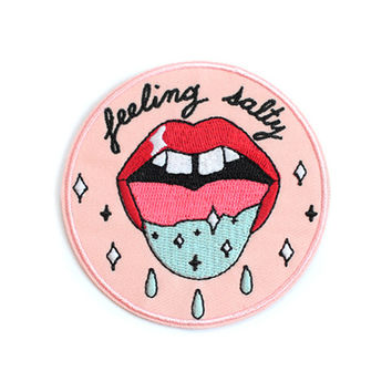 Feeling Salty Patch - Pink