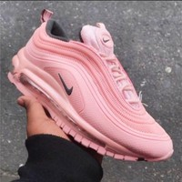 NIKE NIKE AIR MAX 97 Fashion New Sports Leisure Women Air Cushion Shoes Pink