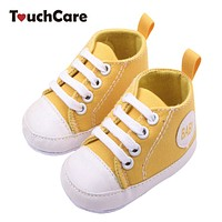 Infant born Shoes Baby Girl Boy Sports Sneakers Soft Bottom Anti-slip T-tied First Walkers