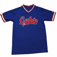 Vintage 90s Cubs Baseball Jersey #36 Mens Size Small