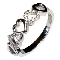 5 Hearts Promise Ring - Beautiful Promise Rings
