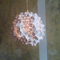 White Geodesic Pendant Lamp/Sculpture *one of a kind*