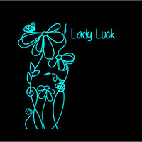 Lady Luck Floral Decal Floral Decal Ladybug Decal Custom Vinyl Computer Laptop Car auto vehicle window decal custom sticker Decal