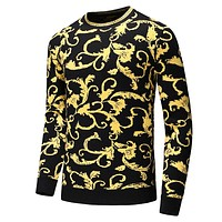 Versace Newest Fashion Men Women Casual Knit Sweater Sweatshirt