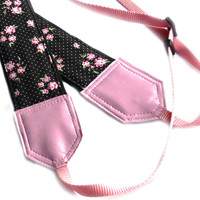 Flowers Camera Strap. Floral Camera Strap. Polka dot Camera Strap DSLR / SLR Camera Strap. Photo Camera accessories. For Sony, canon, nikon, panasonic, fuji and other cameras.