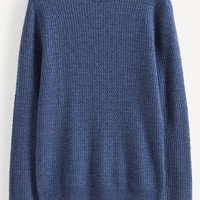 Blue Knit Sweater Top