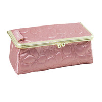 "Royal Blossom Clasp Cosmetic Bag/ Eyeglass Case 6.1""""X2.16""""X2.63"""" Pink: Pink"